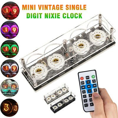 Assembled Mini Retro Digital Nixie Tube Clock Remote without ZM1020 Z560M Tubes