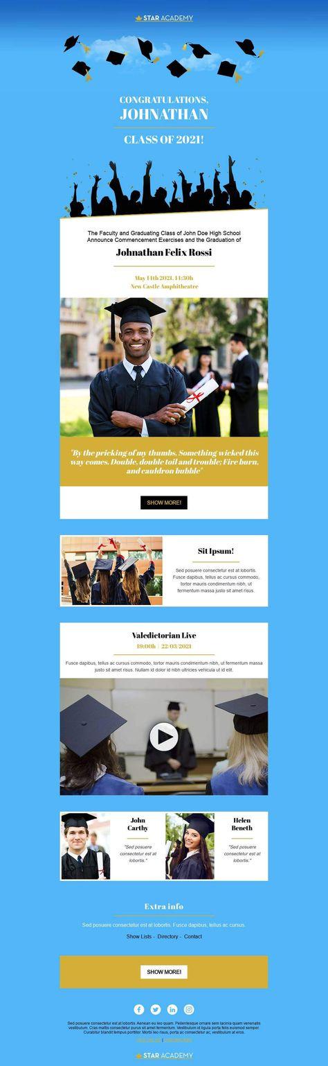 Graduation Announcement - Email Template