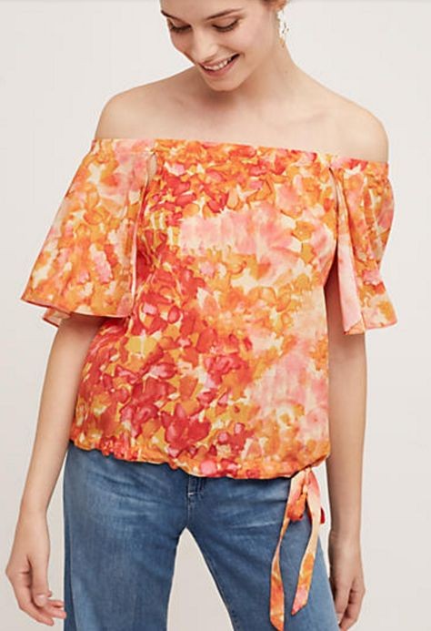 Off-the-Shoulder Silk Top