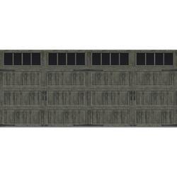 Ideal Door Designer Steel Panel Oak Slate 16 X 8 Better Construction R Value 6 5 Garage Door With Garage Door Insulation Garage Door Windows Garage Doors