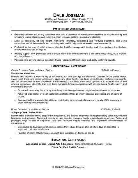 Use this free resume sample to stock up on tips for writing a - warehouse supervisor sample resume