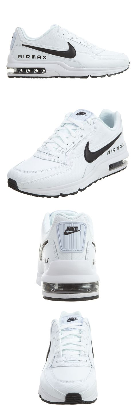15e27a63bbd5be Athletic 15709  Nike Air Max Ltd 3 Mens 687977-107 White Black Leather  Running Shoes Size 10 -  BUY IT NOW ONLY   129.99 on eBay!