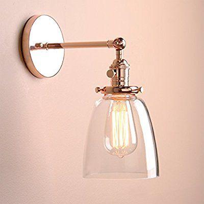 Buyee Modern Vintage Industrial Metal Head Glass Shade Loft Wall Light Scone Wall Lamp Copper Head Amaz Wall Lights Sconces Wall Lamps Wall Sconce Lighting