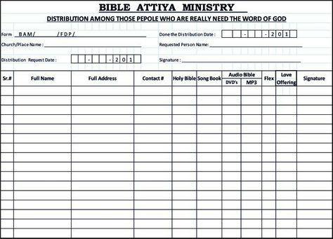 Request Form These are Our Bible Attiya Ministry Pages Links - check request form