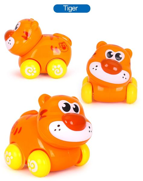 1PC Push & Go Vehicles Sliding Animal Car, Adorable Animal Farm Zoo Toy, Gift for 1 2 3 4 Years Old Girls Boys Toddlers Kids
