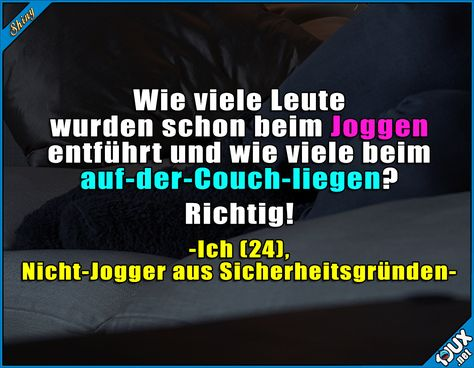 Ich gehe einfach kein Risiko ein! #Couchpotato #Sprüche #Humor #Statussprüche #witzig #Memes