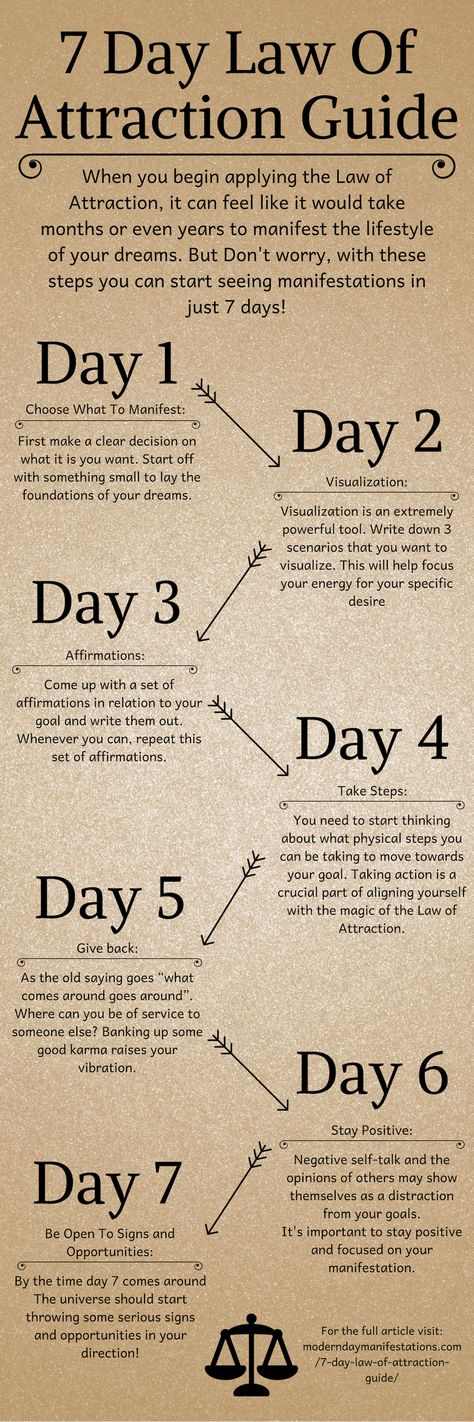 7 Day Law Of Attraction Guide