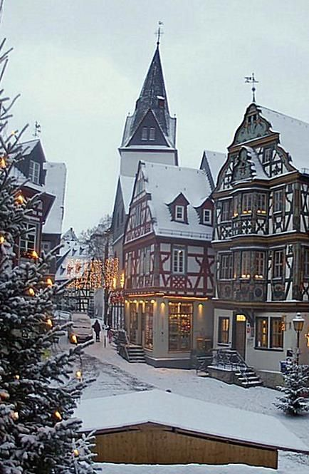 Last Minute Travel Christmas 2020 At the main square Koenig Adolf Platz in Idstein Germany with