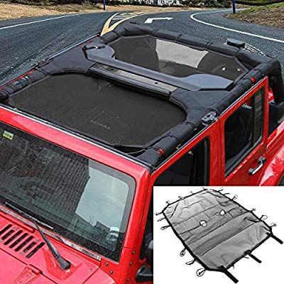 Full Eclipse SunShade Mesh Bikini Top Cover Kit For Jeep Wrangler 4-Door 2007-18
