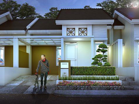 desain rumah mungil minimalis pada tanah luas 84 m2