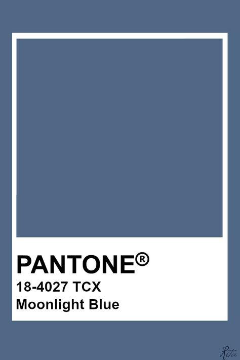 Pantone Moonlight Blue