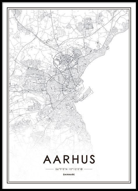 Aarhus Plakat I 2020 Kort Verdenskort