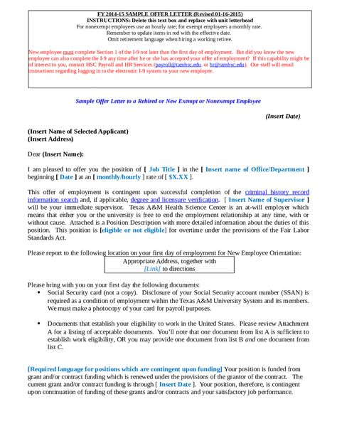 appointment letter format for branch manager template Home - employment offer letter