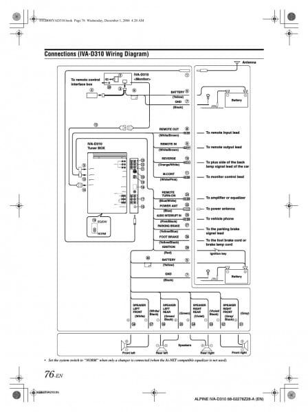 alpine harness diagram res wiring diagrams Alpine KTP-445U Wiring-Diagram