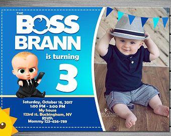 Jefe Bebé Invitación Invitación De Cumpleaños De Baby Boss