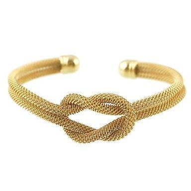 be1dae51c2b Metallic Formal Elegant Tube Double Twine Gold Bracelet #Jewelry #Gift  #Giftforwomen #Giftforwife #Giftformom #Mother'sdaygift #Valentine'… |  Bracelets in ...