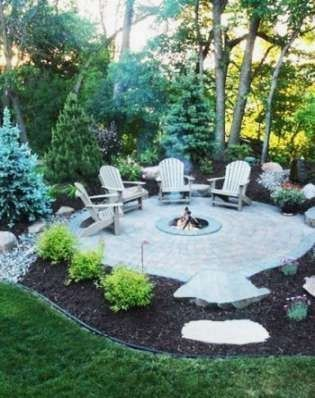 33 Cozy And Welcoming Backyard Design Ideas With Fire Pit In 2021 Backyard Landscaping Plans Backyard Landscaping Designs Backyard Fire