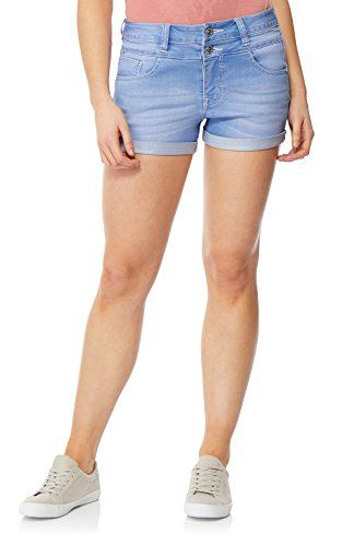 westAce Womens Stretchy Denim Shorts Distressed Jeans Boyfriend Skinny Ripped Turn-up Hotpants