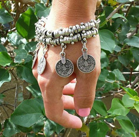 Zealmer Women Gypsy Vintage Silver Coin Collar Necklace