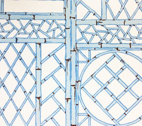 Copy Of China Seas Lyford Trellis Wallpaper Custom Blues