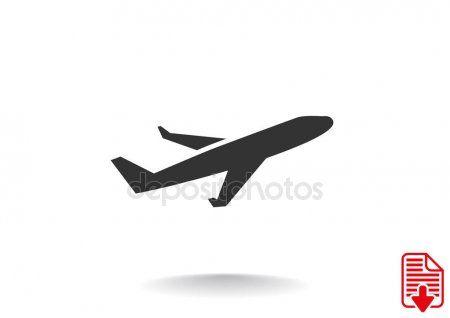 Simple Plane Icon Stock Vector Ad Plane Simple Icon
