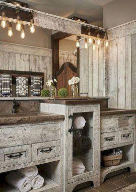 85 Modern Farmhouse Bathroom Design Ideas Badezimmer Rustikal