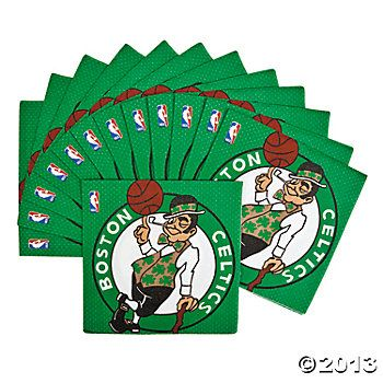 Boston Celtics NBA Collection Luncheon Napkins