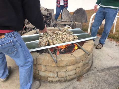 Backyard fire pits are good for more than just staying warm on a chilly night. See how they turned a backyard oyster roast into an oyster fest!