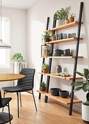 Gallery Leaning Shelves In Reclaimed Wood Modern Bookcases Shelving Modern Office Furniture Office Furniture Modern Reclaimed Wood Shelves Kitchen Modern Shelving