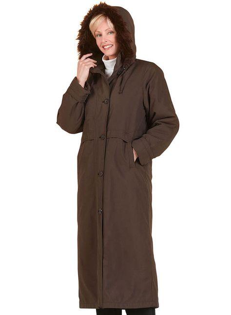 Long Microfiber Coat at http://www.AmeriMark.com. #wintercoat #womenscoat #ladiescoat #amerimark #microfibercoat