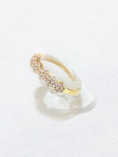 خاتم ذهب عيار 18 محبس ذهب به فصوص Wedding Rings Jewelry Engagement
