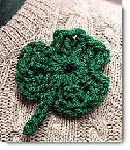 Crocheted shamrock