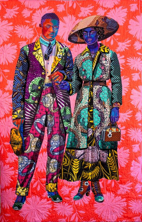 Textile art inspired by vintage photographs of African Americans – in pictures Bisa Butler celebrated African American figures through textile art. African American Artist, American Artists, Arte Black, Black Figure, Colossal Art, Contemporary Quilts, Contemporary Paintings, Inspiration Art, African Fabric
