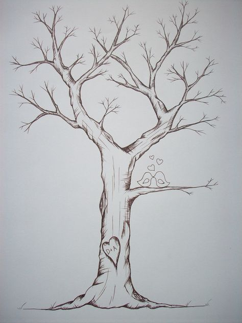 Tree art Fingerprint Trees- a great idea to get the family together during the holidays and make a family tree with everyones fingerprints.