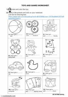 3rd Grade Unit 5 Toys And Games Online Worksheet Language English