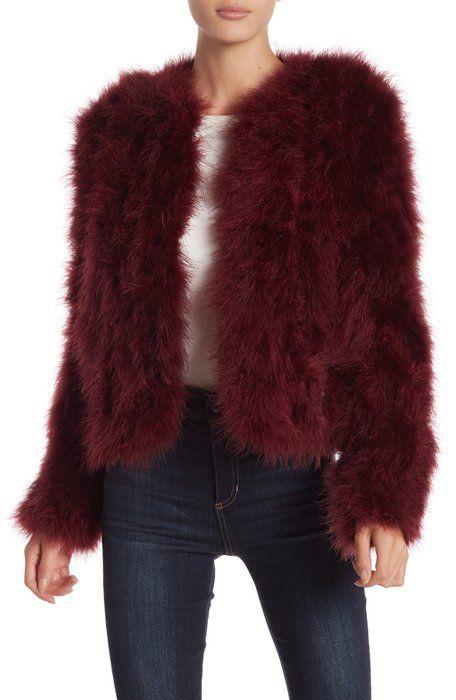 8a8364dd1ab LAMARQUE - Genuine Turkey Feather Jacket | looks in 2019 | Feather ...
