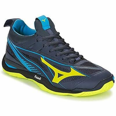 Details About Mizuno Wave Mirage 2 1 Handball Shoes Men S X1ga185047 Blue Yellow Black In 2020 Shoes Mens Yellow Black Blue Yellow