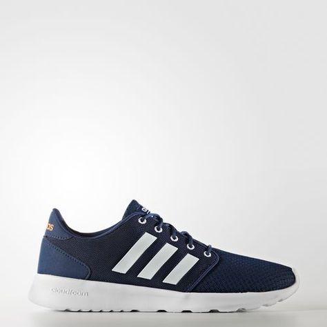 adidas neo cloudfoam qt racer sneakers blauw dames
