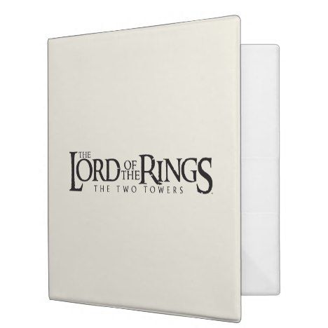 LOTR horizontal logo 3 Ring Binder #lordoftherings Lord Of The