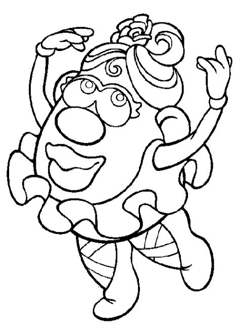 Mrs Potato Head Coloring Page Coloring Pages Toy Story Coloring Pages Cool Coloring Pages
