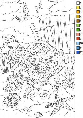 Download This Free Color By Number Page From Favoreads Get A Cool Bonus The Same Design Without Numbers Choose Disegni Da Colorare Disegni Lezioni Di Arte
