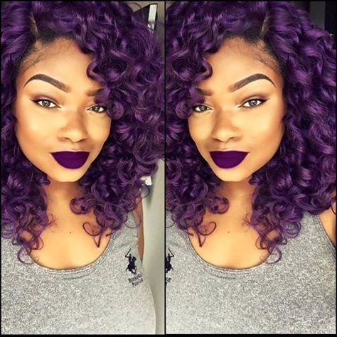 30 BOLD and TRENDY DARK PURPLE HAIR COLOR IDEAS for AMERICAN WOMEN