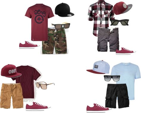 """""""Outfit for concert for my brother with burgundy Chuck Taylors"""" by fashionista-shawnte on Polyvore"""