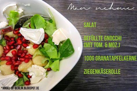 Ziegenkaserolle salat