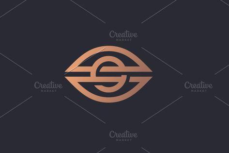 Eye Vector Logo. Camera Vision Line