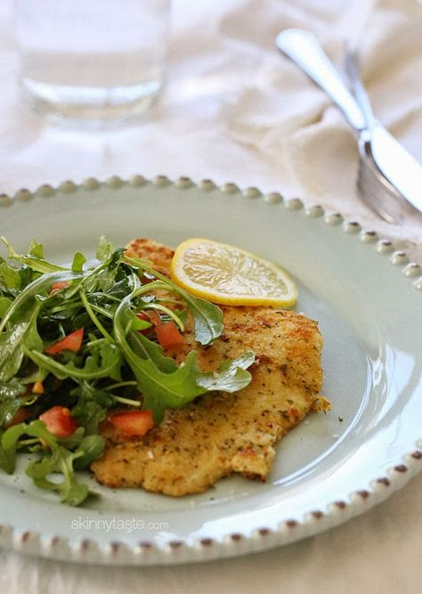 An easy, light and delicious fish dish topped with a simple arugula salad #Lent