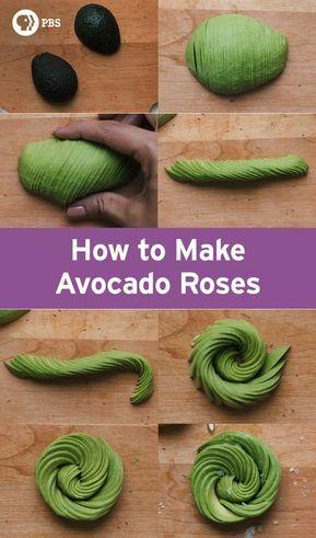 How To Make An Avocado Rose How Made Kuchnia Molekularna