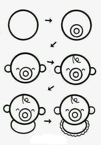 Aprende A Dibujar Un Bebe Facil Y Sencillo Bebes Para Dibujar Hacer Dibujos Para Ninos Dibujos Sencillos Para Ninos