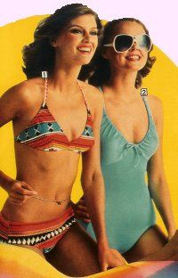 a614abb898206 Mid 70s swimsuits. Mid 70s swimsuits Surfer Girl Style