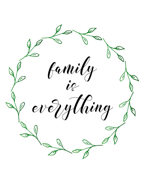 Free Printables: Pretty Family Decor - family is everything - little blonde mom